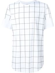 checked print T-shirt Stampd