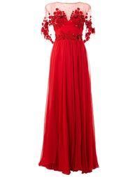 декорированное вечернее платье  Zuhair Murad