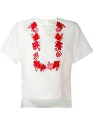футболка с цветочной вышивкой  Giambattista Valli