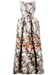 вечернее платье с цветочным принтом  Oscar de la Renta