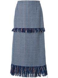 твидовая юбка с бахромой Le Ciel Bleu