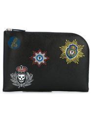 badge print clutch Alexander McQueen