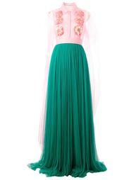 платье с цветочной аппликацией  Delpozo
