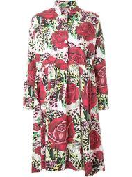 платье с принтом роз Antonio Marras