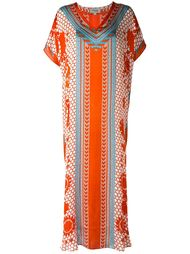 'Tishka' printed kaftan Temperley London