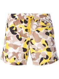 camouflage swim shorts Moncler