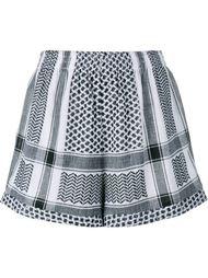 Keffiyeh Cotton Shorts Cecilie Copenhagen