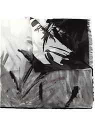 шарф с абстрактным принтом Loro Piana