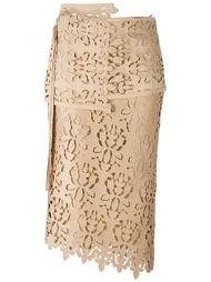 юбка с перфорированным дизайном  Nº21
