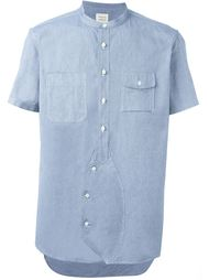 band collar shortsleeved shirt Wooster + Lardini