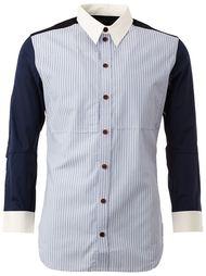 ррубашка  полоску с контрастными рукавами Christopher Nemeth