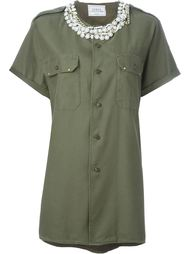 рубашка с декорированным воротником Forte Couture