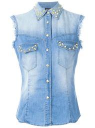 джинсовая рубашка без рукавов  Just Cavalli
