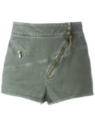high-waisted dislocated zipper shorts Roberto Cavalli
