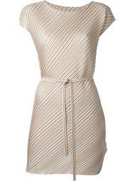 короткое платье с гофрированным дизайном  Pleats Please By Issey Miyake