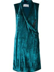 velvet sleeveless dress Emannuelle Junqueira