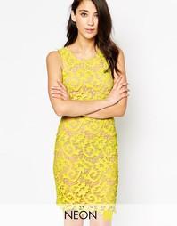 Кружевное облегающее платье Max C - Лайм