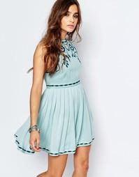 Очаровательное платье мини из добби Free People Birds of a Feather
