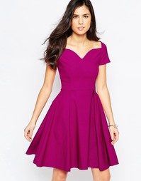 Приталенное платье миди со свободной юбкой Vesper Sherry