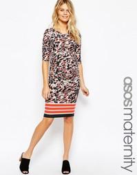 Облегающее платье для беременных с леопардовым принтом ASOS Maternity