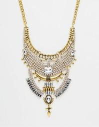 Броское составное ожерелье Love Rocks - Золотой