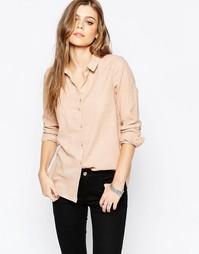 Светло-коричневая рубашка Vila Liza - Бежево-розовый