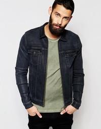 Джинсовая куртка зауженного кроя DARK FUTURE - Черный