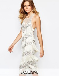 Платье миди с бахромой A Star Is Born - Белый кристалл