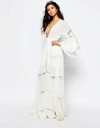 Белое платье макси The Jetset Diaries Hammock - Слоновая кость