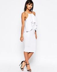 Платье миди с оборкой ASOS - Белый