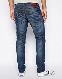 Узкие джинсы с сильно выбеленным эффектом Selected - Умеренный синий