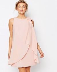 Свободное платье с лямкой через шею и бантом Coast Lydia - Blush