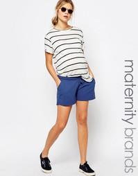 Трикотажные шорты для беременных Mamalicious - Темно-синий Mama.Licious