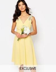 Платье для выпускного с декорированными плечами TFNC WEDDING