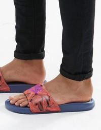 Шлепанцы с принтом Nike Benassi JDI 631261-855 - Оранжевый