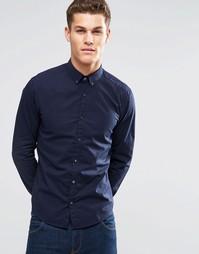 Хлопковая эластичная рубашка узкого кроя Esprit - Темно-синий
