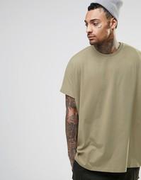 Oversize-футболка бежевого цвета ASOS - Серебристо-бежевый