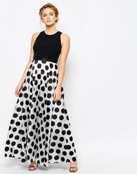 Платье макси в горошек Coast - Черно-белый