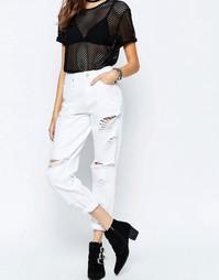 Белые рваные джинсы в винтажном стиле ASOS ORIGINAL - Белый
