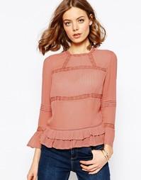 Винтажная блузка ASOS - Сумеречный фиолетовый