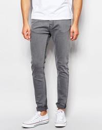 Серые выбеленные джинсы с покрытием LDN DNM - Серый