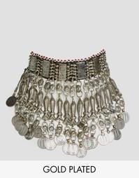 Броское ожерелье-чокер с подвесками Rock N Rose Simone - Серебряный