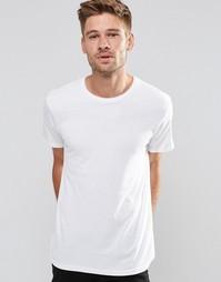 Белая базовая футболка с круглым вырезом Esprit - Белый