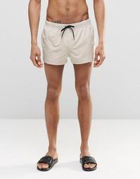 Короткие шорты для плавания ASOS - Бежевый