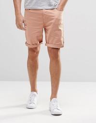 Розовые джинсовые шорты слим ASOS - Коричнево-красная роза