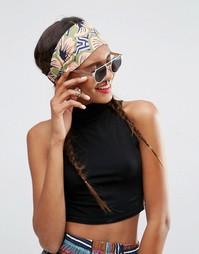 Повязка на голову с цветочным и геометрическим принтом ASOS AFRICA