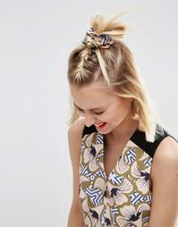 Резинка для волос с геометрическим цветочным принтом ASOS AFRICA