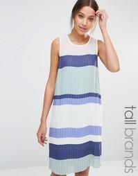 Плиссированное платье в стиле колор блок Y.A.S Tall - Мульти