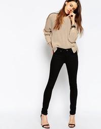 Черные джинсы скинни с классической талией ASOS Lisbon - Чистый черный