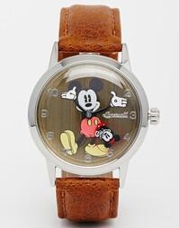 Часы с коричневым ремешком Disney Mickey Mouse - Коричневый
